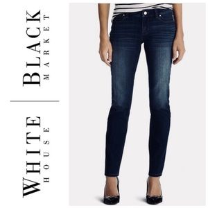 WHITE HOUSE BLACK MARKET SLIM LEG JEANS SZ 0S